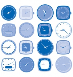 watch face icons vector image