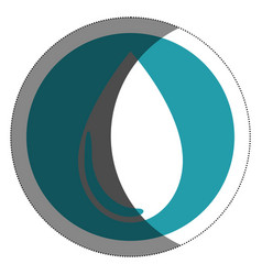 water drop isolated icon vector image vector image