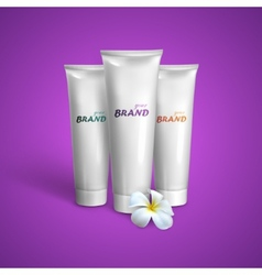 White tubes mock-up for cream tooth paste or gel vector