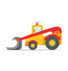 Yellow bulldozer construction machinery equipment vector