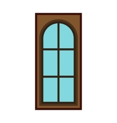 Modern entrance door icon flat style vector