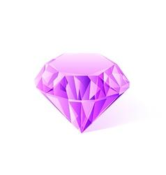 shiny pink amethyst vector image