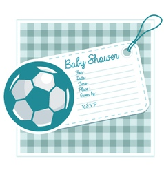Soccer Baby Shower Invite Card vector image