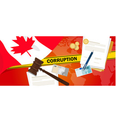 canada corruption money bribery financial law vector image