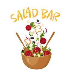salad bar vector image