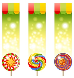 Lollipops banners vector