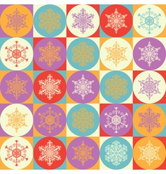 Bright background with snowflakes vector image