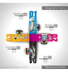 teamworkINFO vector image