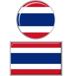 Thailand round and square icon flag vector image