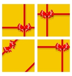 Gift boxes with ribbons and bows vector image