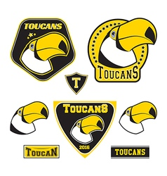 Set of toucan logotypes vector
