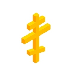 Orthodox cross isometric 3d icon vector