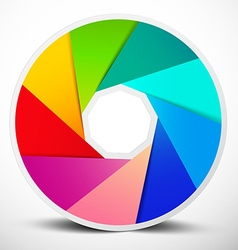 Material Design Infinity Circle Colorful Symbol vector image