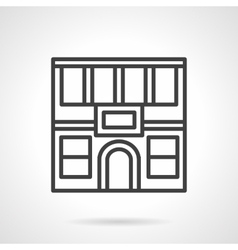Restaurant facade simple line icon vector