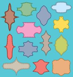 Multi-colored framework vector