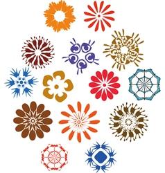 Flowers sing set vector