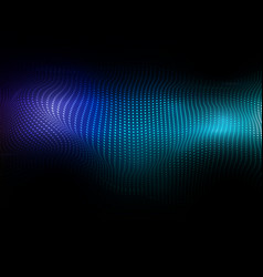abstract background of flowing dots vector image