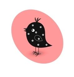 bird with flowers vector image