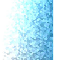 Blue 3d cube mosaic pattern background design vector