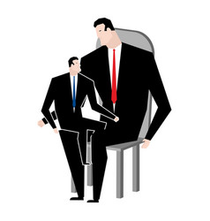 businessmen and son business relatives family vector image vector image
