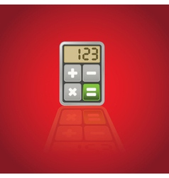 Calculator application icon vector image
