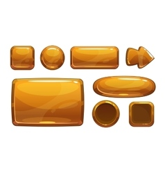 Cartoon bronze game ui assets vector