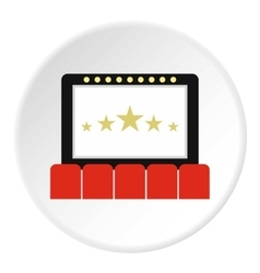 Cinema interior icon flat style vector