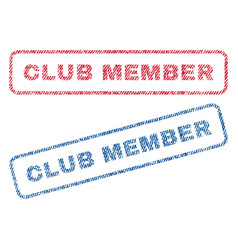 club member textile stamps vector image