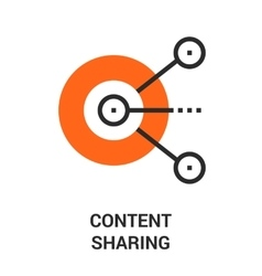 content sharing icon vector image vector image