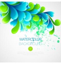 Curls watercolor background vector image