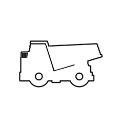 Dump truck icon transportation design vector
