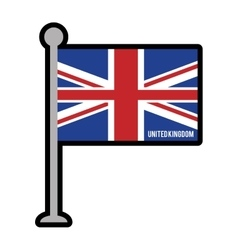 England patriotic flag isolated icon vector
