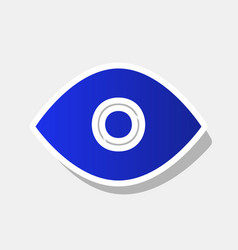 eye sign new year bluish vector image