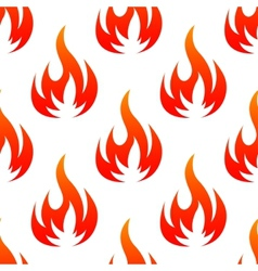 Fire flames seamless pattern vector