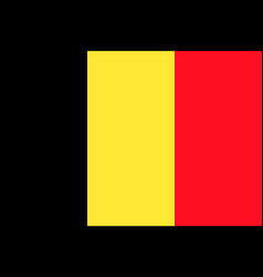 flag of belgium flag vector image vector image