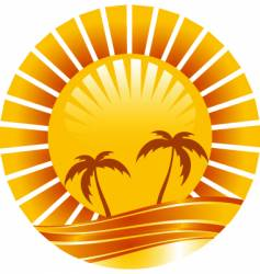 gold sun vector image vector image