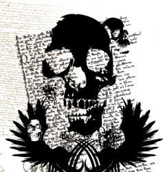 gothic skull vector image vector image
