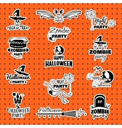 Happy Halloween Collection vector image vector image