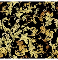 Luxury vintage golden seamless background vector image