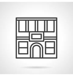 Restaurant facade simple line icon vector image vector image