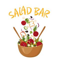 salad bar vector image