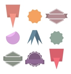 Set paper design elements vector image vector image