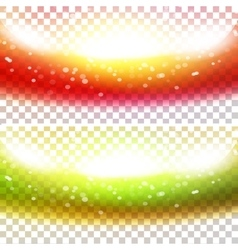 Shiny waves anner set vector image