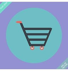 Shopping cart sign - vector image
