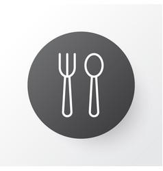 Silverware icon symbol premium quality isolated vector