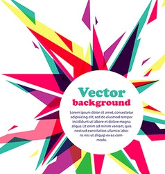 Star frame for your text abstract backgr vector