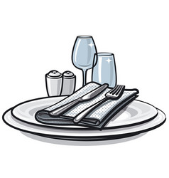 table setting on table vector image