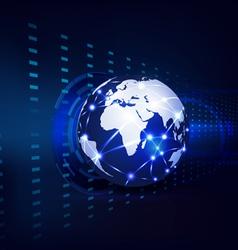 Technology futuristic circuit digital background vector