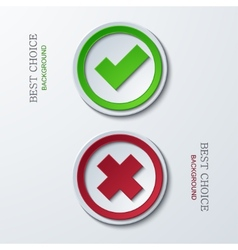 yes or no circle icons vector image