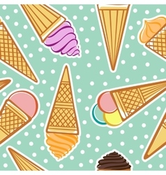 Seamless pattern with ice-cream vector